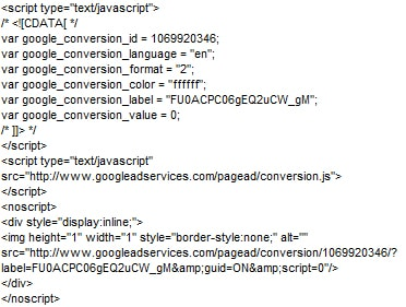 Code Conversions Adwords